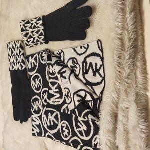 Michael Kors Scarf & Glove Set